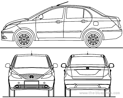 Blueprints > Cars > Tata > Tata Manza (2014)