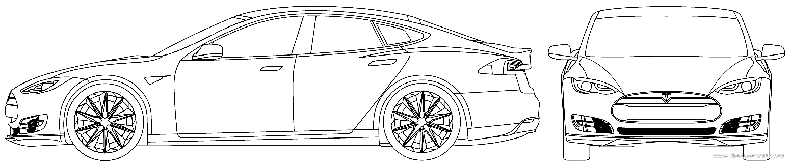 Tesla car blueprints tesla image the blueprints com blueprints cars tesla tesla model s 2016 malvernweather Image collections