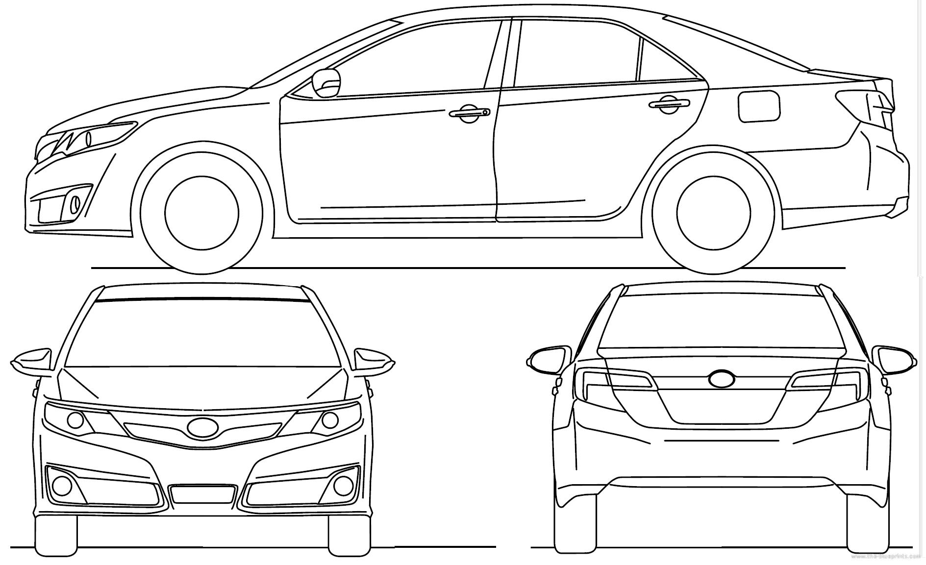 toyota car blueprints free