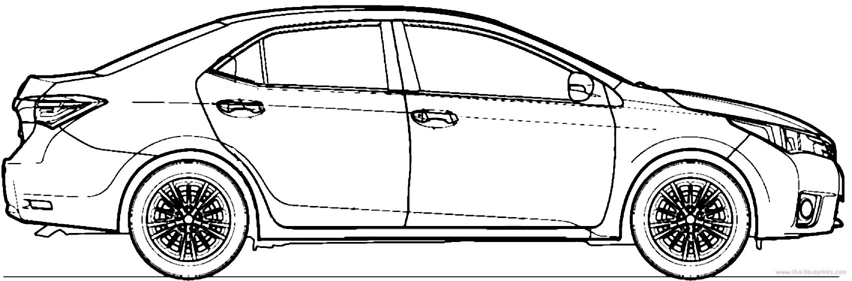 Blueprints cars toyota toyota corolla 2014 toyota corolla 2014 malvernweather Gallery