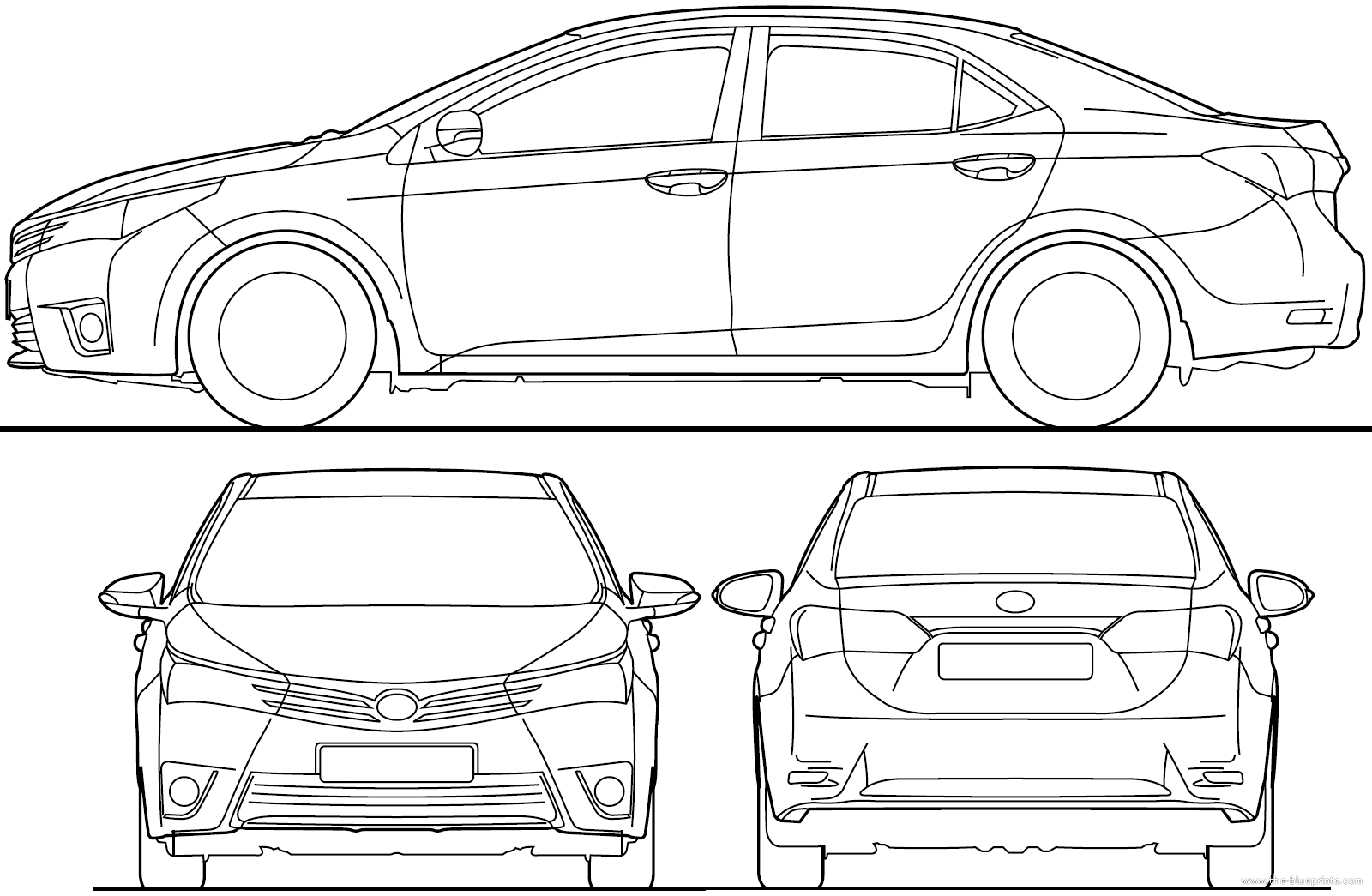 Toyota Corolla 2015 Dimensions All New Car Release And Reviews 2005 Engine Diagram Distributor Less Blueprints Cars