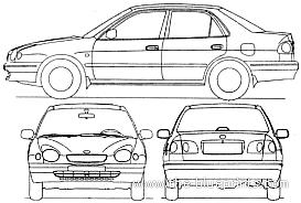 Blueprints > Cars > Toyota > Toyota Corolla 4-Door (1998)