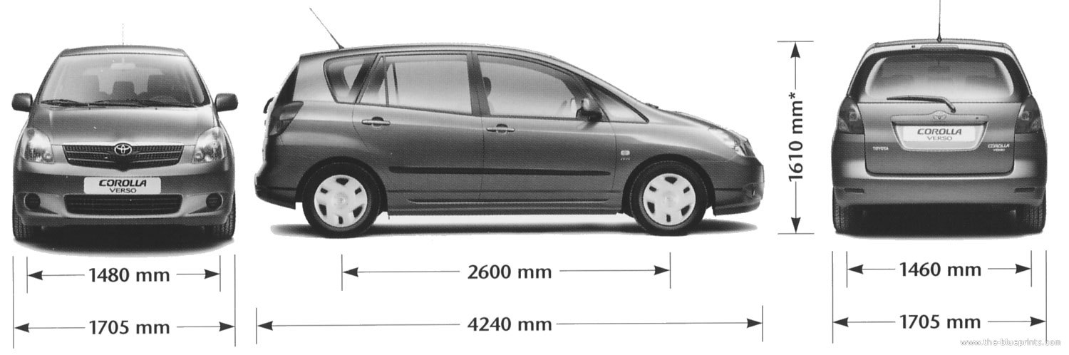 the-blueprints - blueprints > cars > toyota > toyota corolla verso