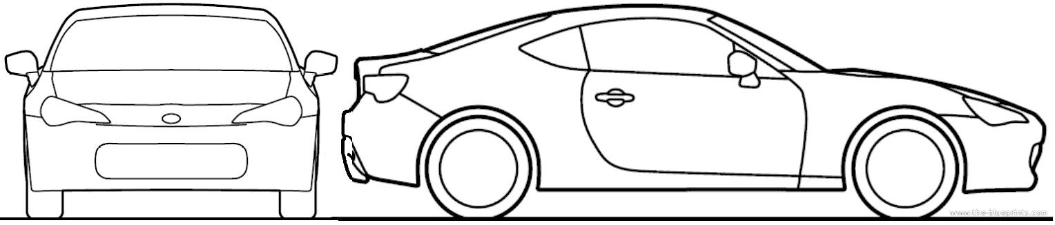 Blueprints Cars Toyota Toyota Gt 86 2012
