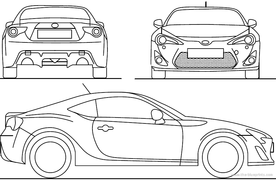 The blueprints blueprints cars toyota toyota gt 86 2013 toyota gt 86 2013 malvernweather Image collections