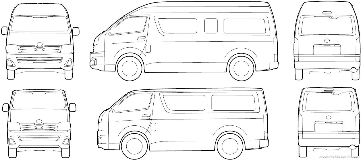 The blueprints blueprints cars toyota toyota hiace 2015 toyota hiace 2015 malvernweather Image collections