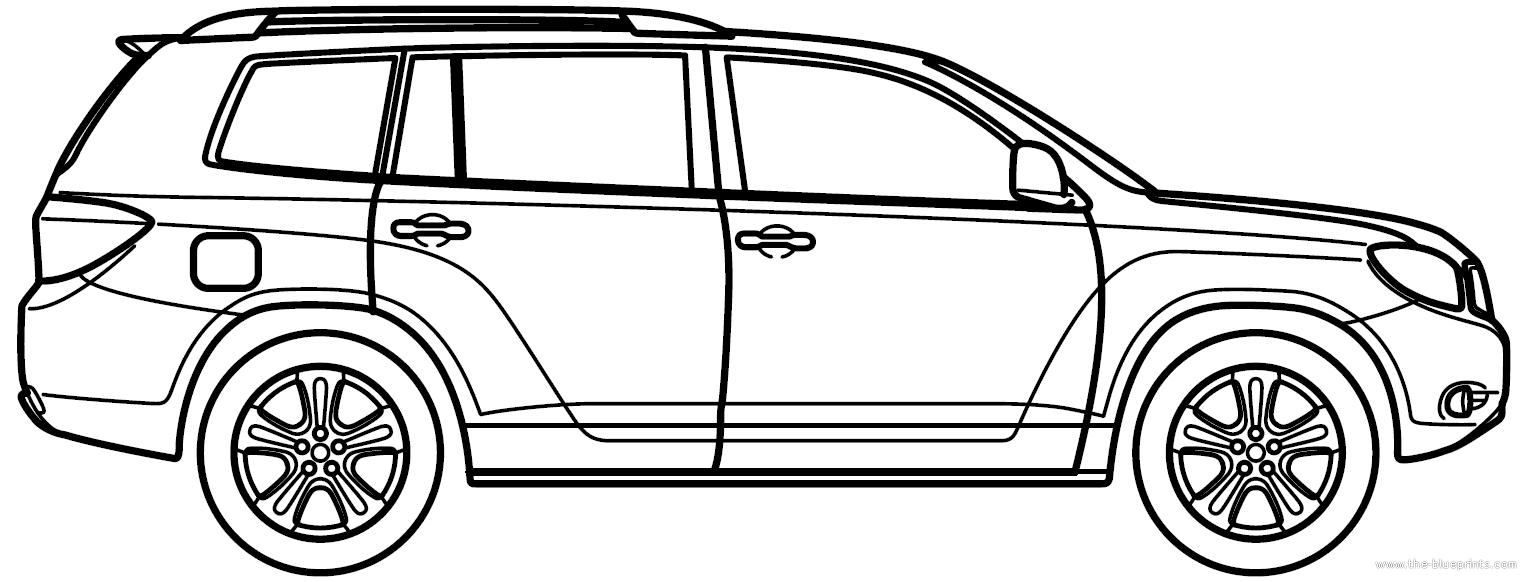 Blueprints Cars Toyota Toyota Highlander 2010