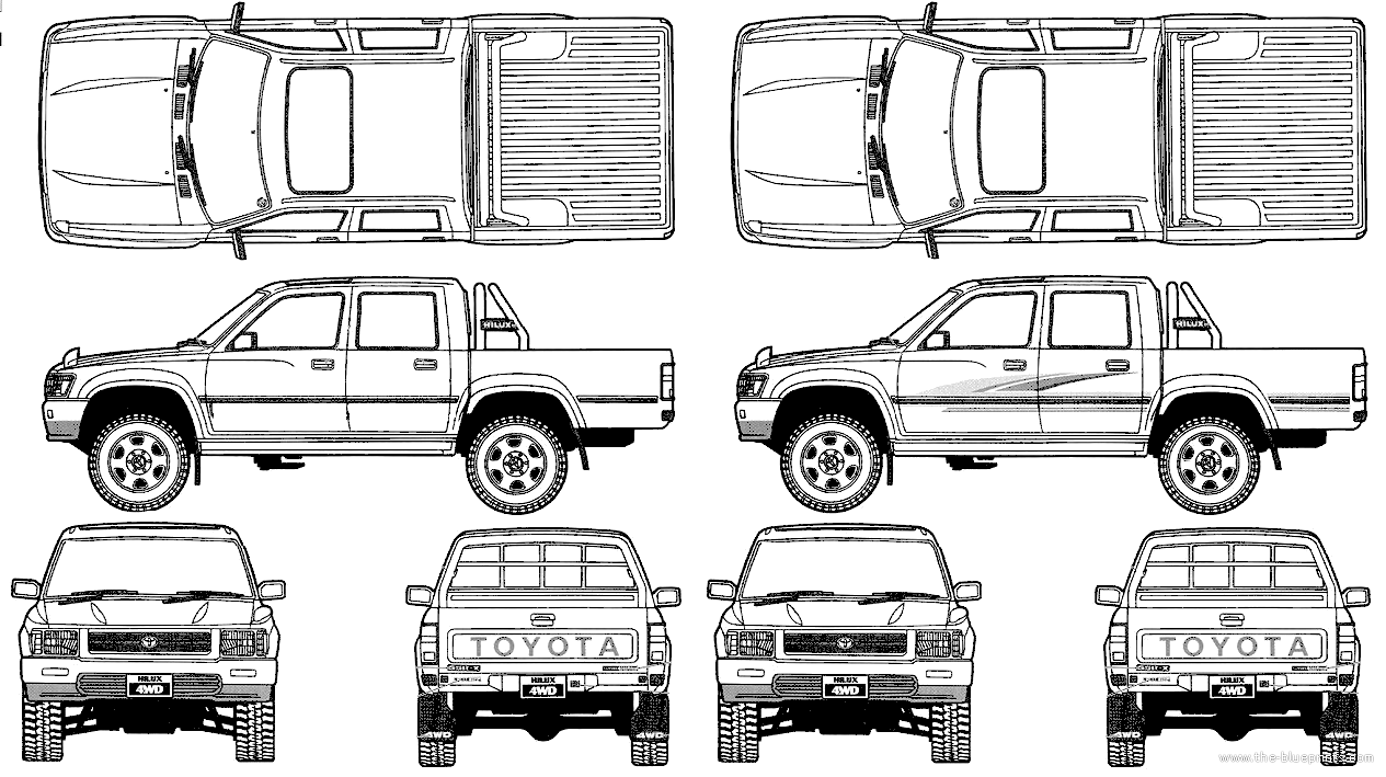 the-blueprints - vector requests - toyota hilux pickup double