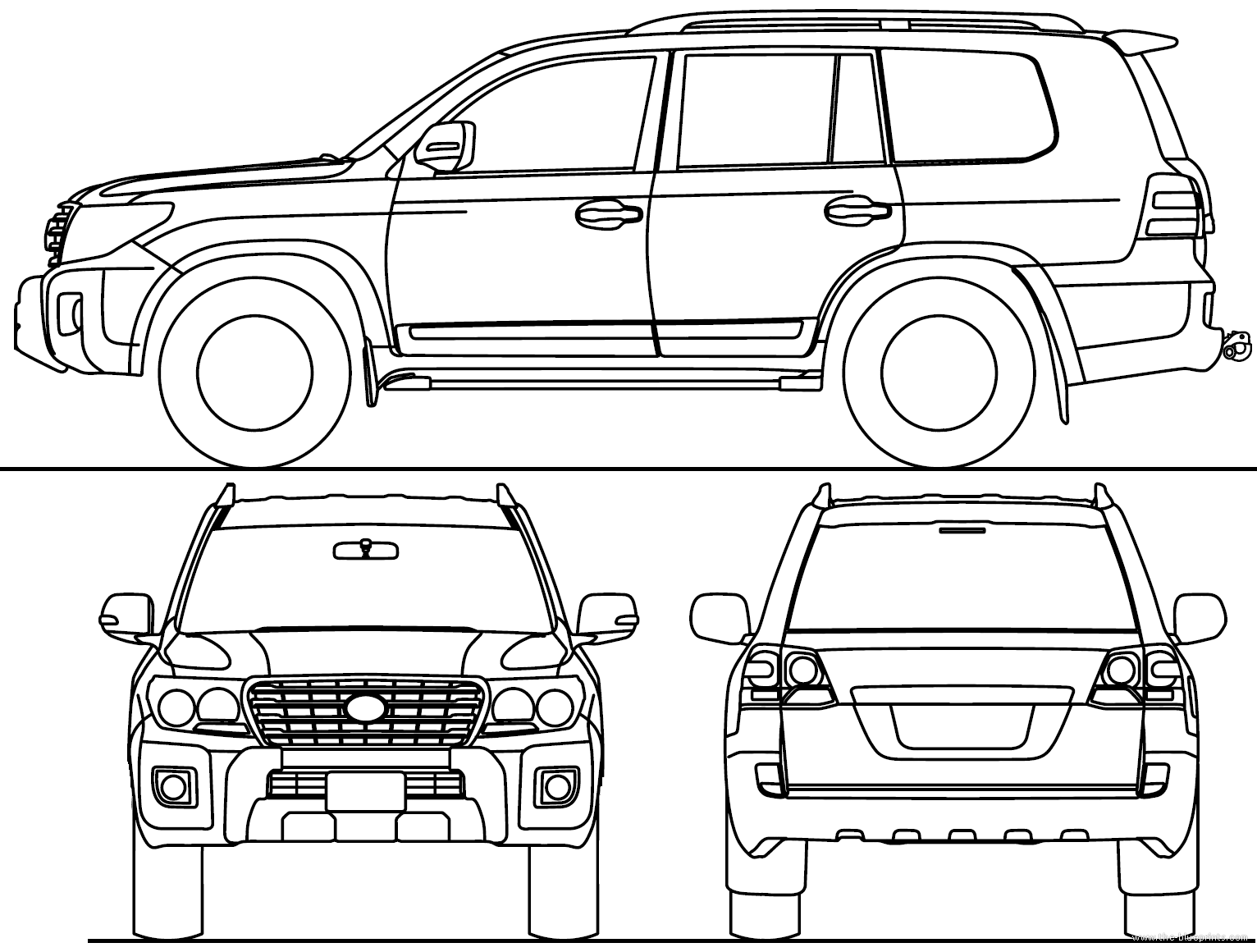 blueprints  u0026gt  cars  u0026gt  toyota  u0026gt  toyota land cruiser 200 v8