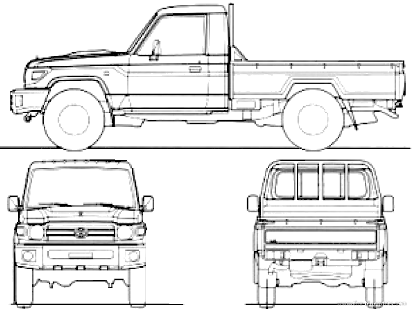 blueprints  u0026gt  cars  u0026gt  toyota  u0026gt  toyota land cruiser 70 pick