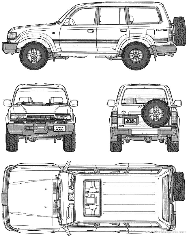 blueprints  u0026gt  cars  u0026gt  toyota  u0026gt  toyota land cruiser 80 vx