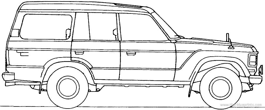 blueprints  u0026gt  cars  u0026gt  toyota  u0026gt  toyota land cruiser bj61v
