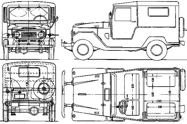 blueprints  u0026gt  cars  u0026gt  toyota  u0026gt  toyota land cruiser fj40lv  1963