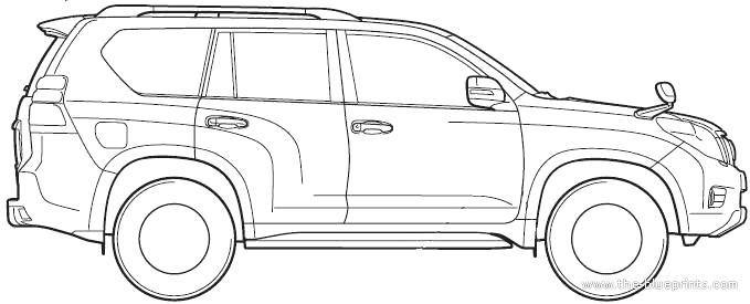 blueprints  u0026gt  cars  u0026gt  toyota  u0026gt  toyota land cruiser prado  2012