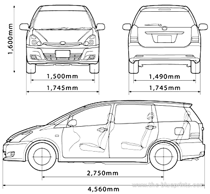 Blueprints cars toyota toyota wish toyota wish malvernweather Images