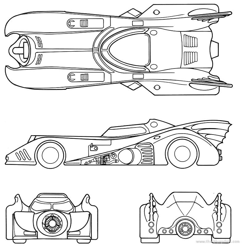 Pics For U0026gt; The Batman Batmobile Drawing