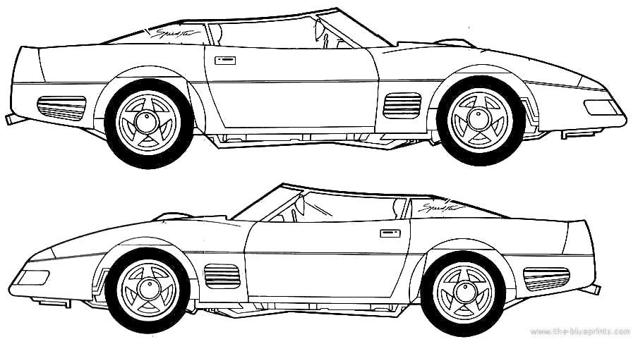 blueprints  u0026gt  cars  u0026gt  various cars  u0026gt  callaway c4 twin turbo speedster  1991