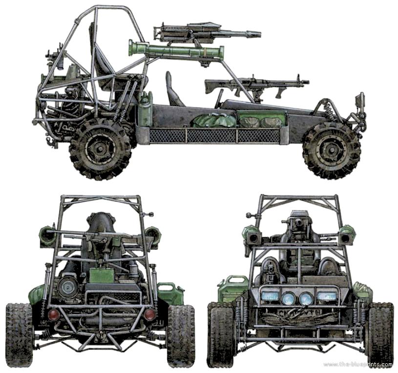 Blueprints > Cars > Various Cars > Chenowth DPV (Desert Patrol Vehicle)