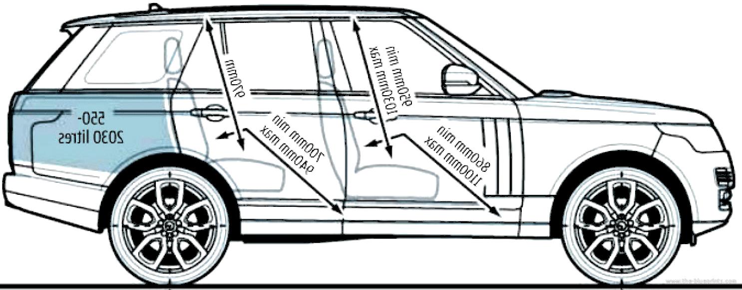 the blueprints cars various cars range rover 2013. Black Bedroom Furniture Sets. Home Design Ideas
