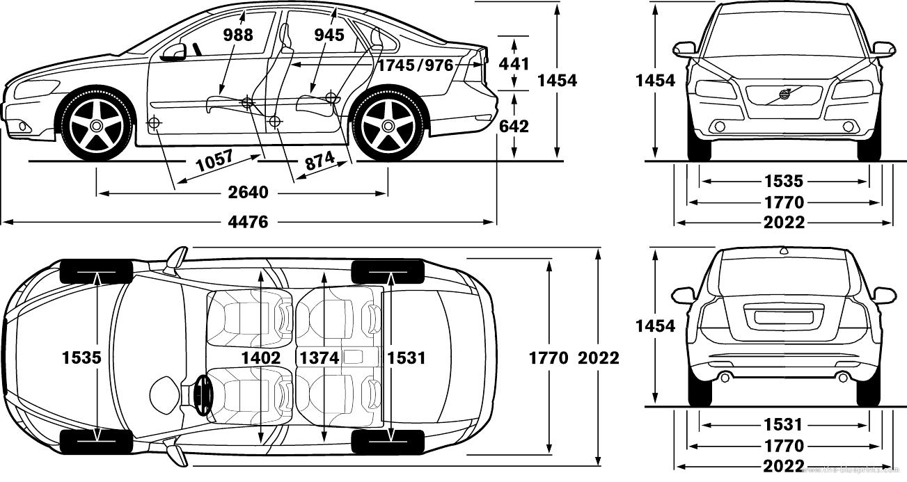 the blueprints cars volvo volvo s40. Black Bedroom Furniture Sets. Home Design Ideas