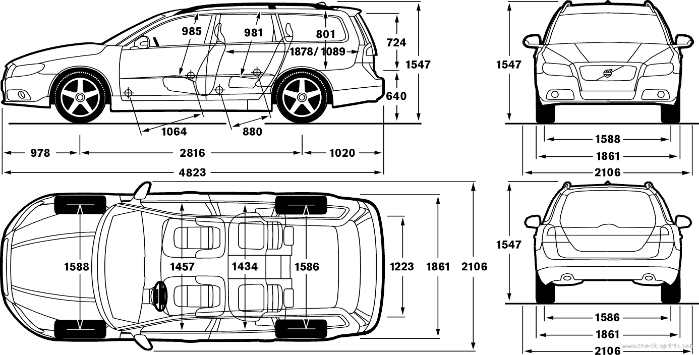 s v volvo xc70 diagram