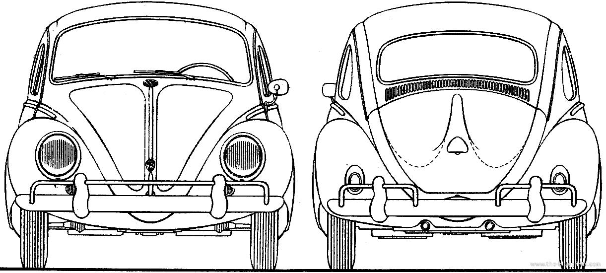 Volkswagen Line Drawing Volkswagen Beetle 1300 1962
