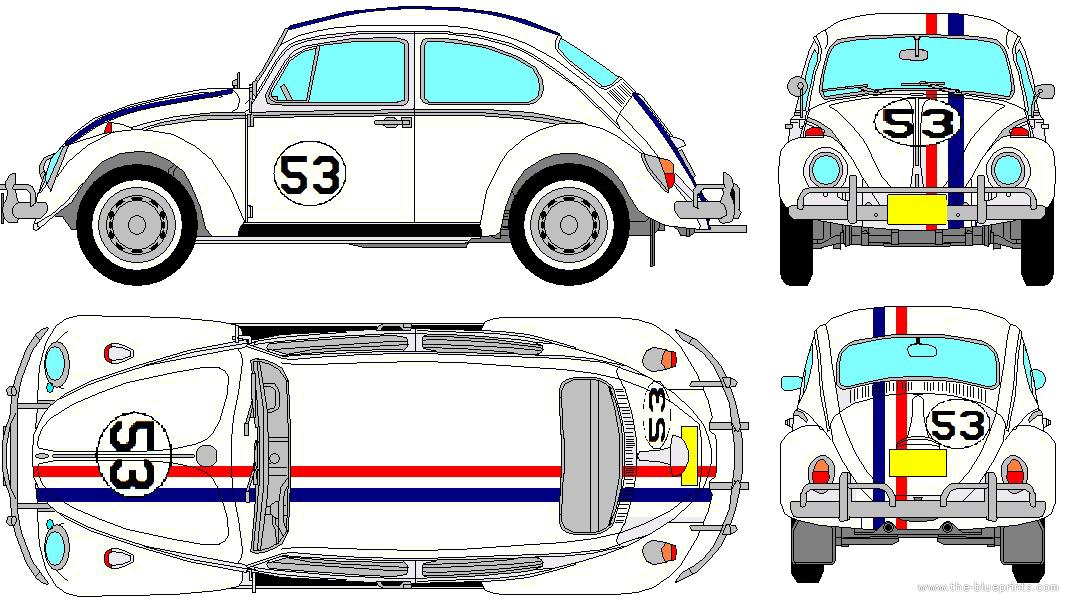 The blueprints blueprints cars volkswagen volkswagen volkswagen beetle herbie malvernweather Choice Image