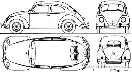Blueprints cars volkswagen volkswagen beetle kdf wagen 1941 volkswagen beetle kdf wagen 1941 malvernweather Images