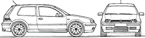 vector requests volkswagen golf mk iv v5 170 2001