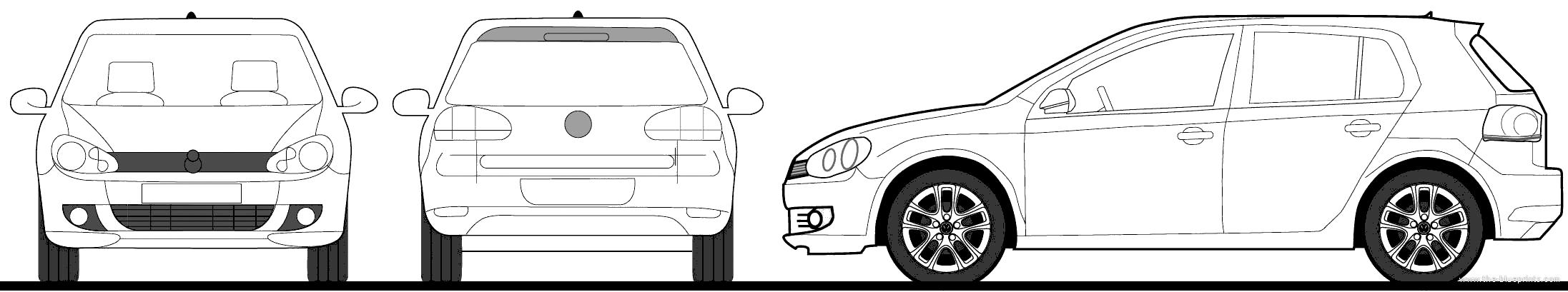 Blueprints > Cars > Volkswagen > Volkswagen Golf TSI 5-Door (2010)
