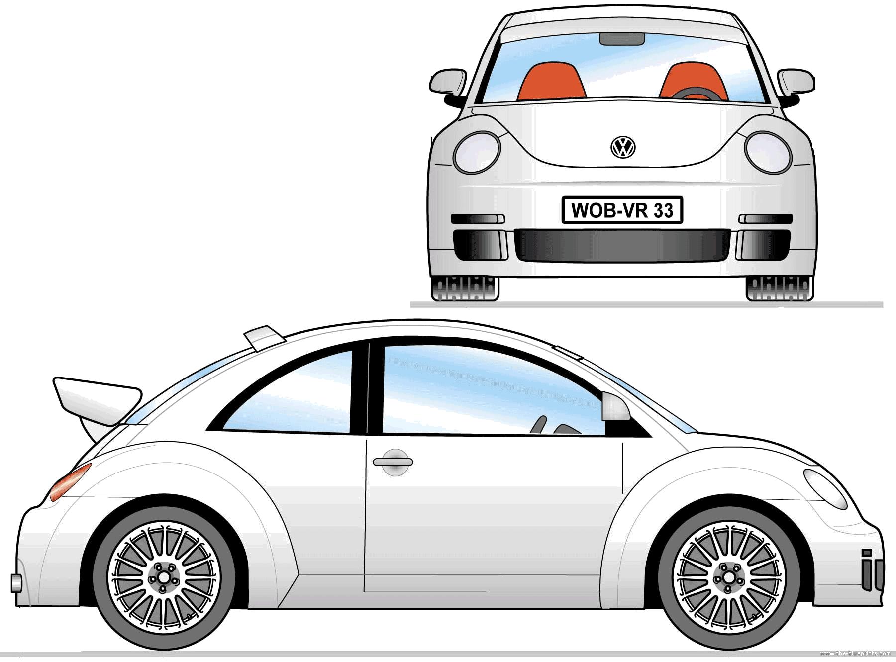 blueprints cars volkswagen volkswagen new beetle rsi 2000. Black Bedroom Furniture Sets. Home Design Ideas