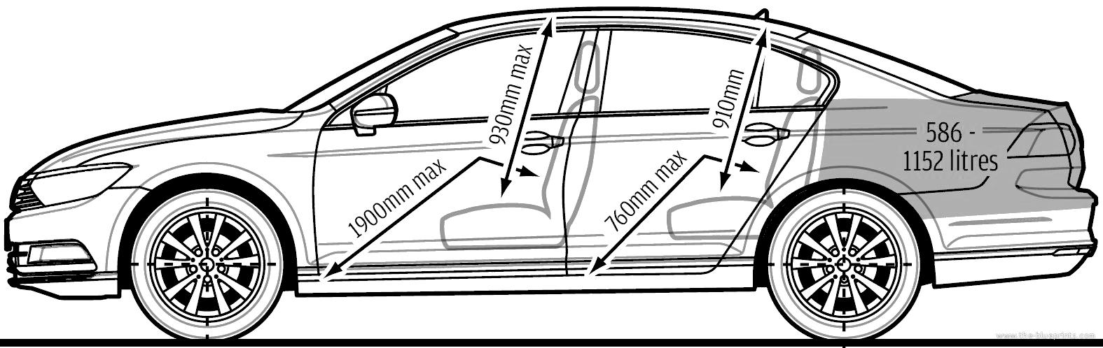 the blueprints cars volkswagen volkswagen passat 2015. Black Bedroom Furniture Sets. Home Design Ideas