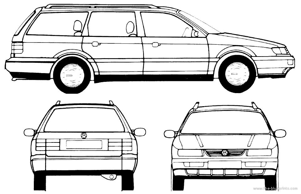 blueprints cars volkswagen volkswagen passat variant 1995. Black Bedroom Furniture Sets. Home Design Ideas