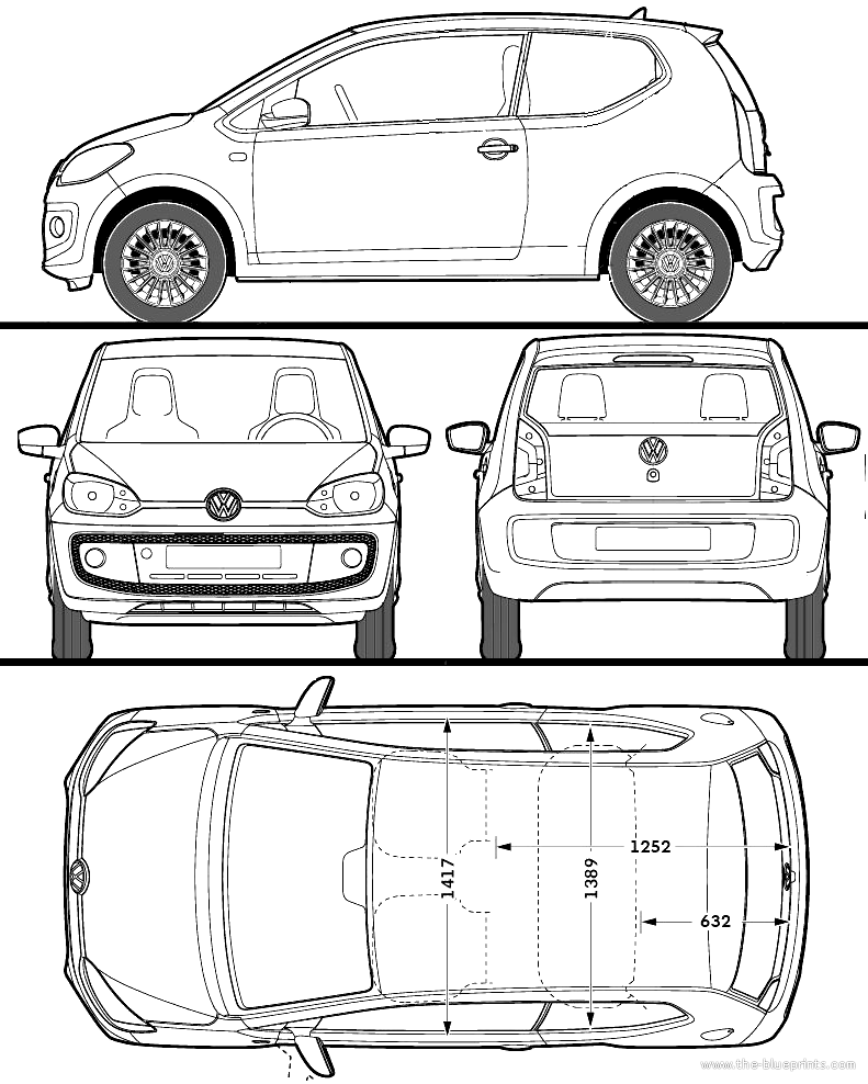 the blueprints cars volkswagen volkswagen up 2012. Black Bedroom Furniture Sets. Home Design Ideas