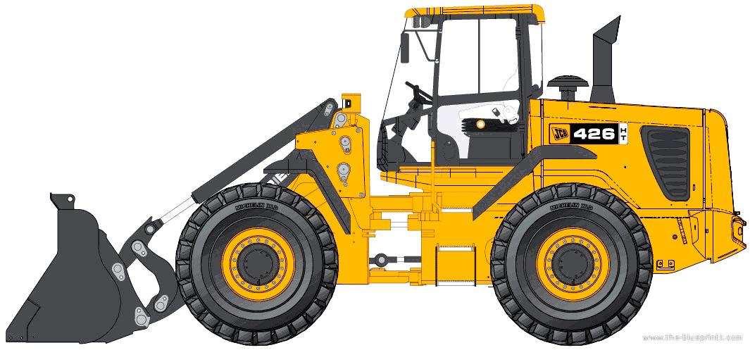 blueprints u003e construction equipment u003e jcb u003e jcb 426 ht rh the blueprints com JCB 520 JCB 260