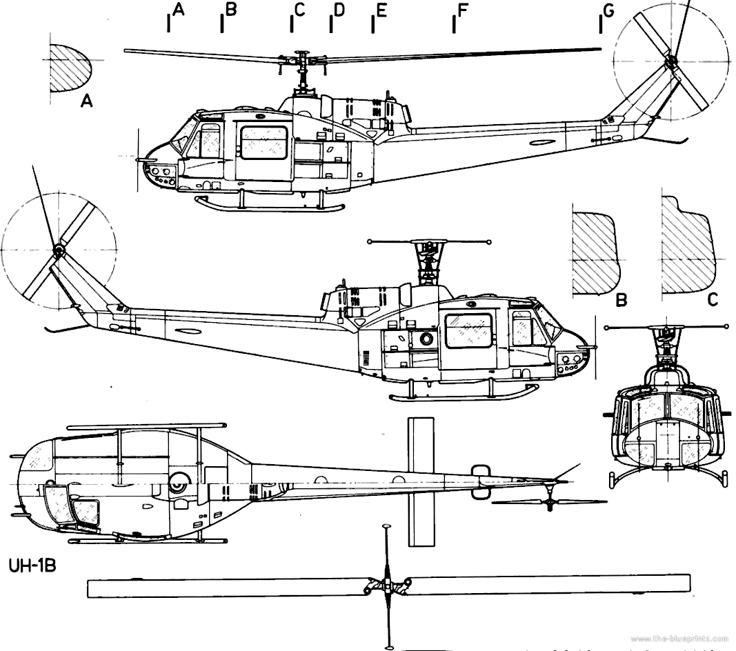 Huey Helicopter Diagram Experience Of Wiring Helicopterpartsdiagramnomenclature Robinson Helicopters Heli Blueprints U003e Bell 204 Uh 1b Iroquois Rh The Com Blade Labeled