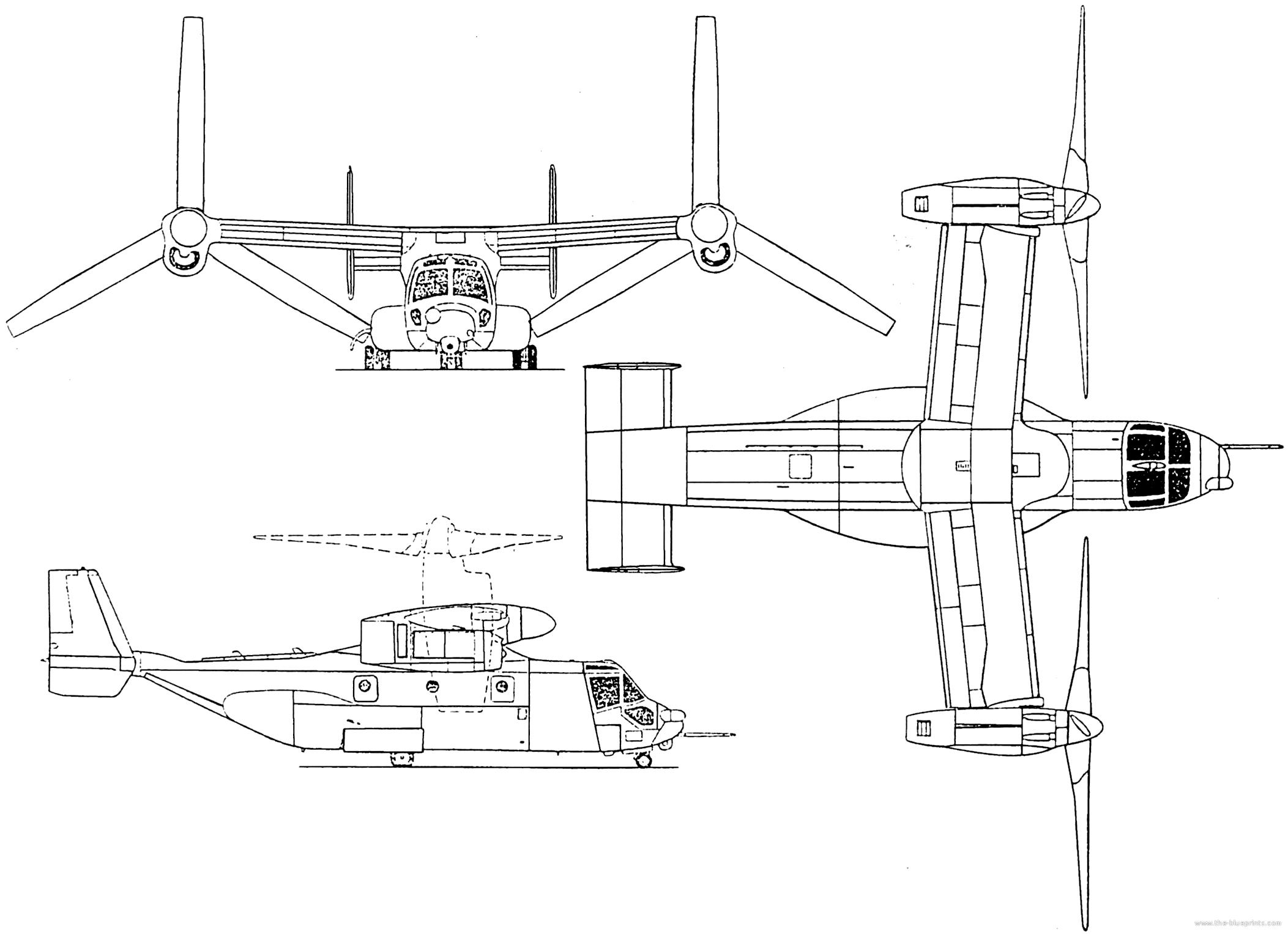 Blueprints > Helicopters > Bell > Bell Boeing V-22 Osprey