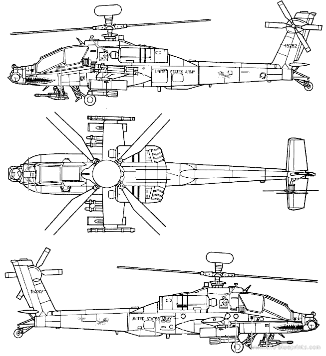 apache helicopter diagram