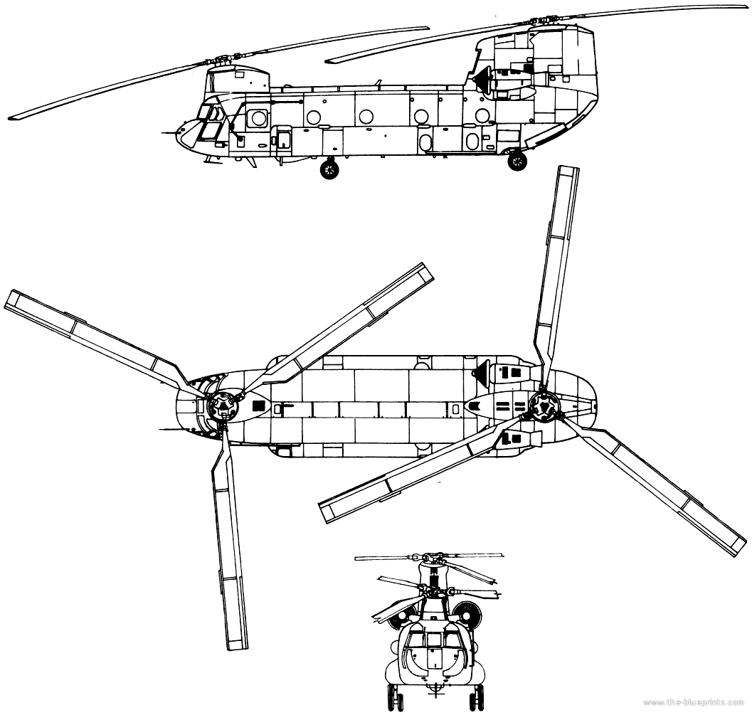 how to draw a chinook helicopter