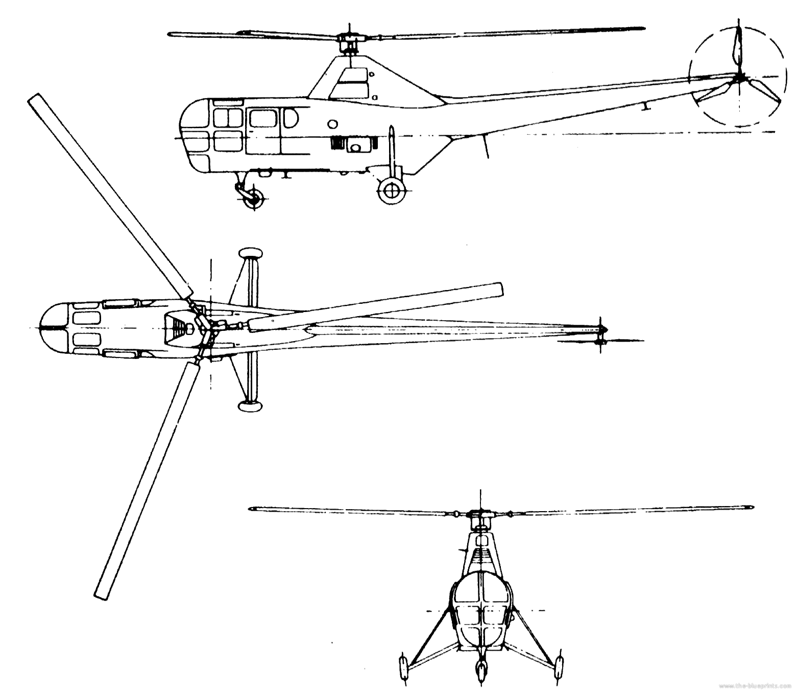 The blueprints blueprints helicopters westland westland dragonfly ws 51 sikorsky s 51 pooptronica Image collections