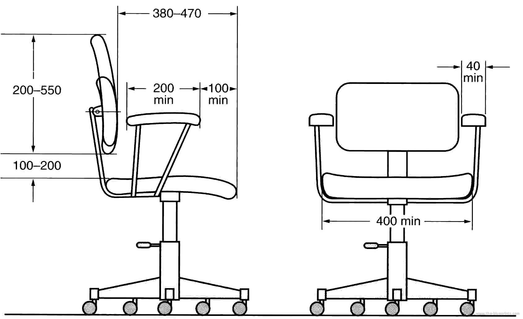 Blueprints miscellaneous furniture office chair office chair malvernweather Images