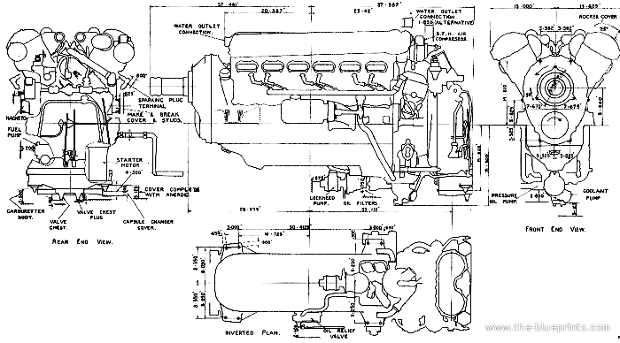 Blueprints > Miscellaneous > Other > Rolls-Royce Merlin Engine