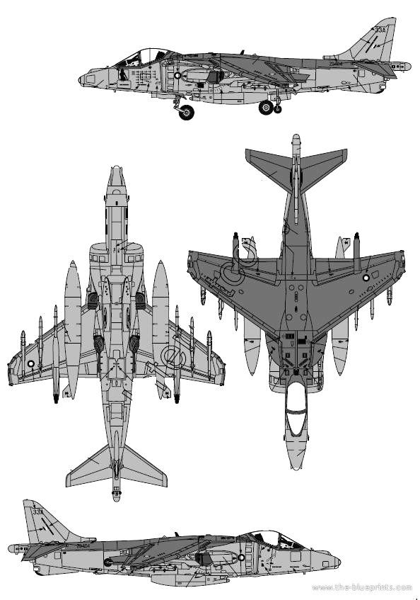 Blueprints Modern Airplanes Bae Bae Harrier Gr 7