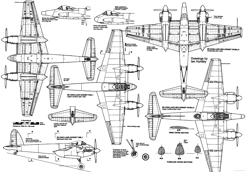 de Havilland DH.103 Hornet & Sea Hornet - RC Groups