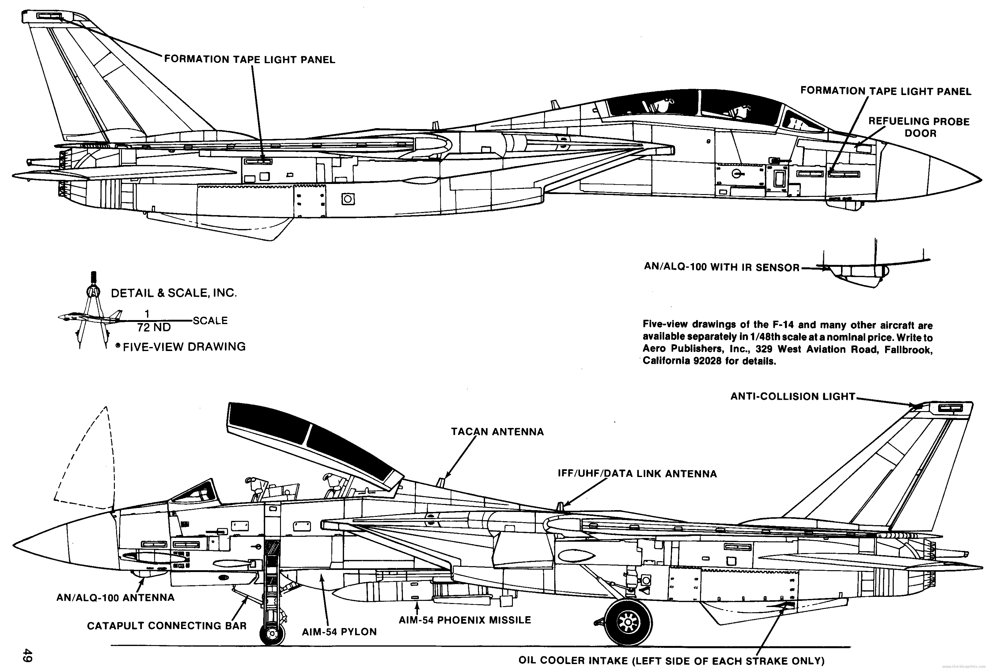 Blueprints modern airplanes grumman grumman f 14 tomcat grumman f 14 tomcat malvernweather Image collections