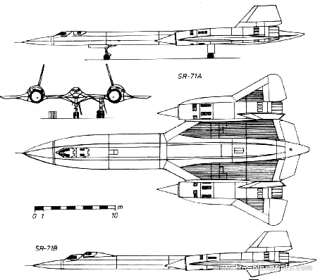 Blueprints > Modern airplanes > Lockheed > Lockheed SR-71 ...