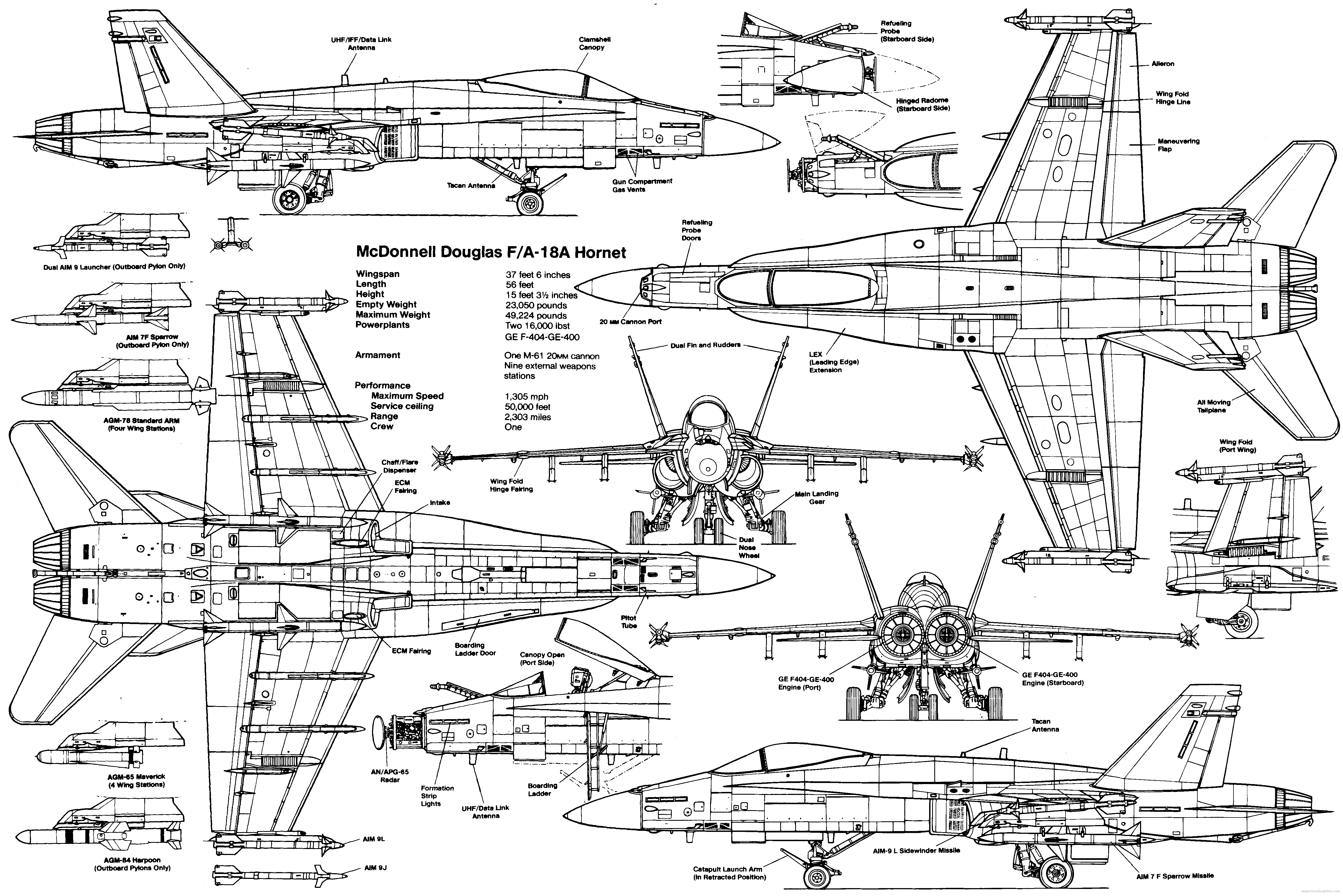 F 18 Hornet Weapons Diagrams