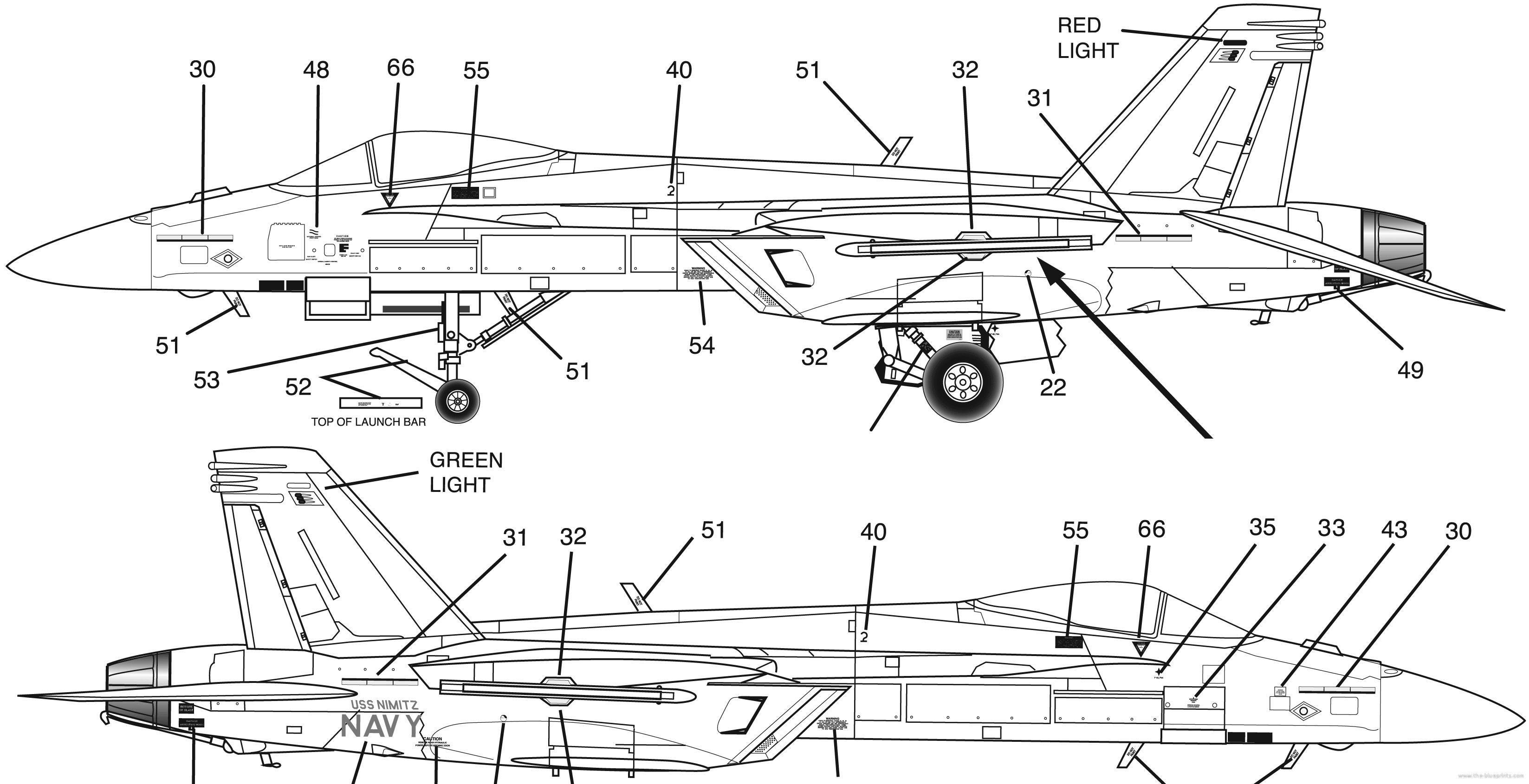 f a 18e super hornet 2 blueprints \u003e modern airplanes \u003e mcdonnell douglas \u003e mcdonnell