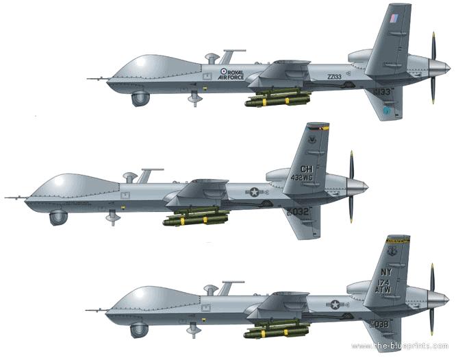 General Atomics Mq 9 Reaper 666x522