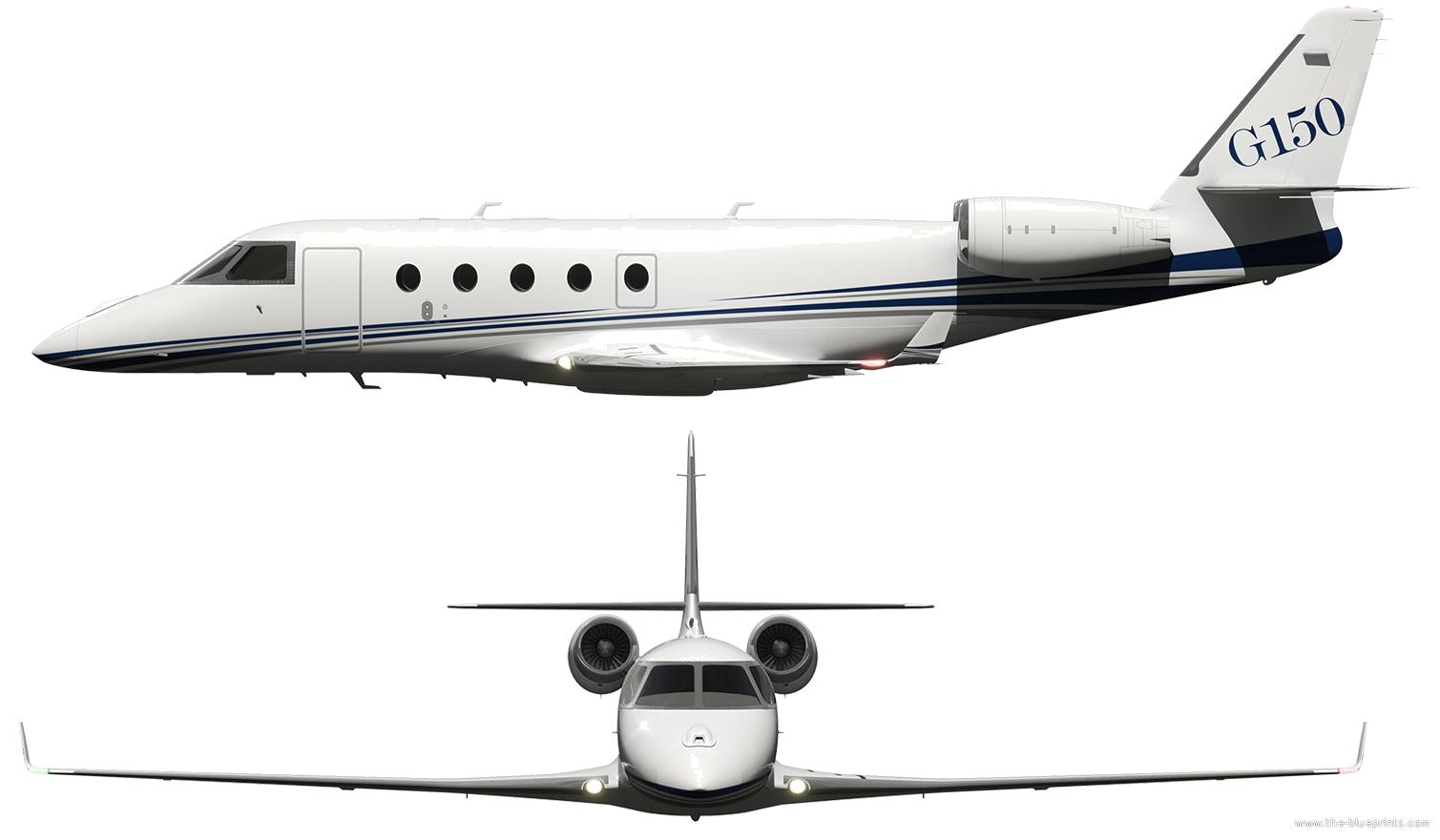 Blueprints modern airplanes modern g gulfstream g150 gulfstream g150 malvernweather Images